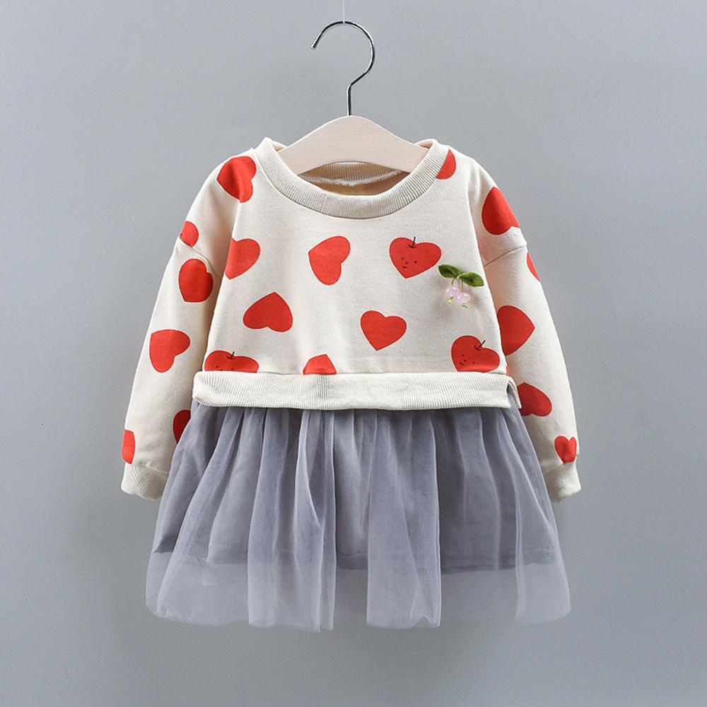 UK Cute Kid Baby Girl Long Sleeve Dress Lace Ruffle Party Princess Dress Clothes