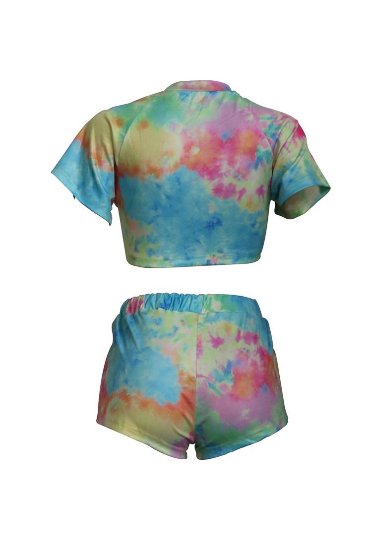 Novo Design Casual Mulheres Set Impresso Two Piece Suit Sport T-shirt roupa outwear moda