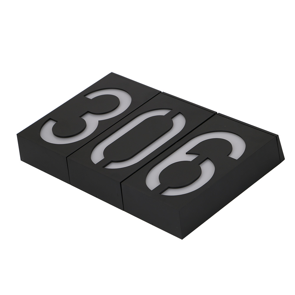 Новый номер солнечной энергии светодиодный световой знак Дом Отель Адрес Адрес Табличка с почтовым ящиком Цифровая табличка Солнечный настенный светильник двери Уличный знак