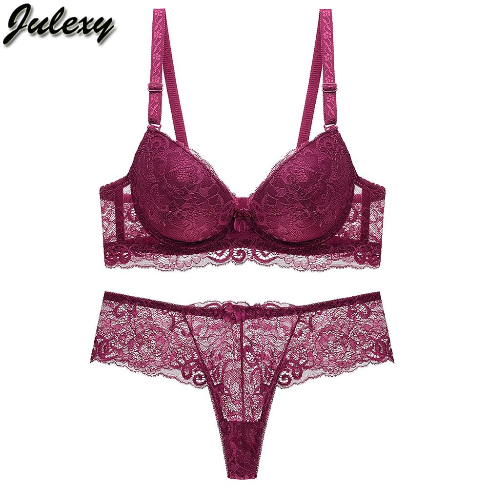 Bralette Set Lady Solid Silk Satin Bra Panty Underwear Lingerie Intimate Apparel