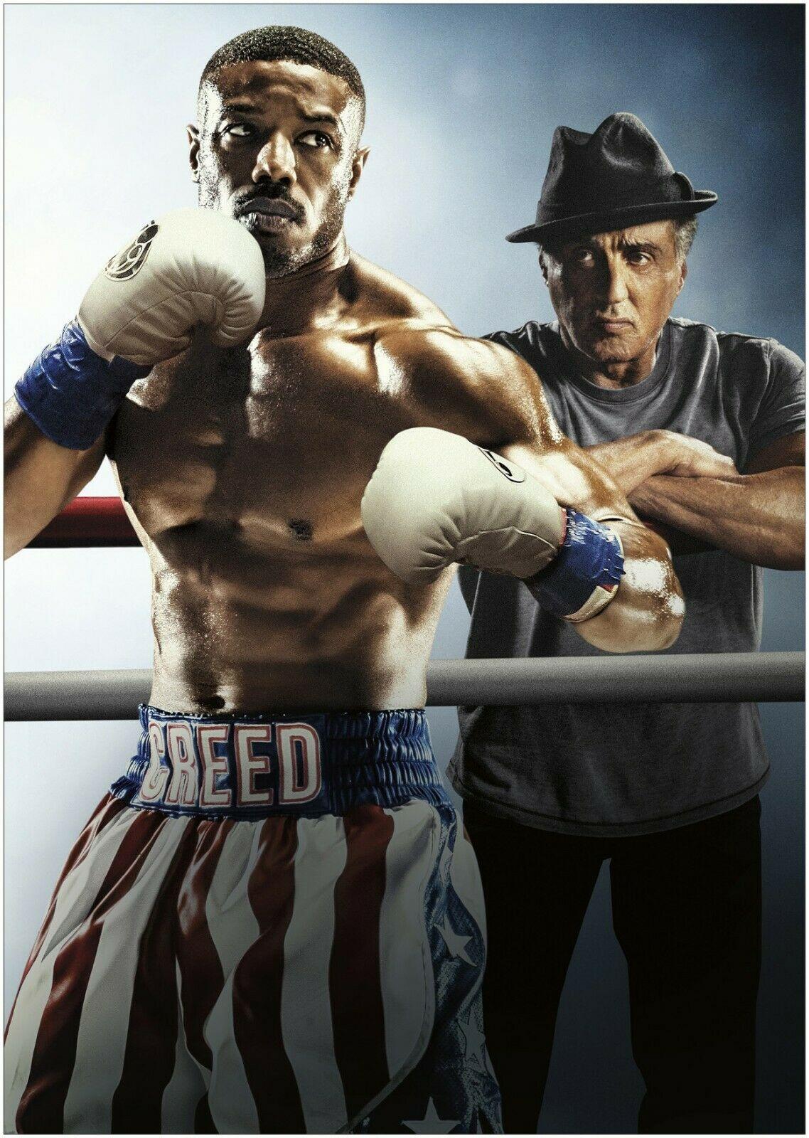 Rocky Balboa vs Apollo Creed Knockout Punch Art Silk Poster 12x18 24x36