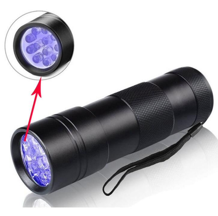 5000LM LED UV Flashlight UV Torch Lights 12 Leds Pets Urine and Stains Detector