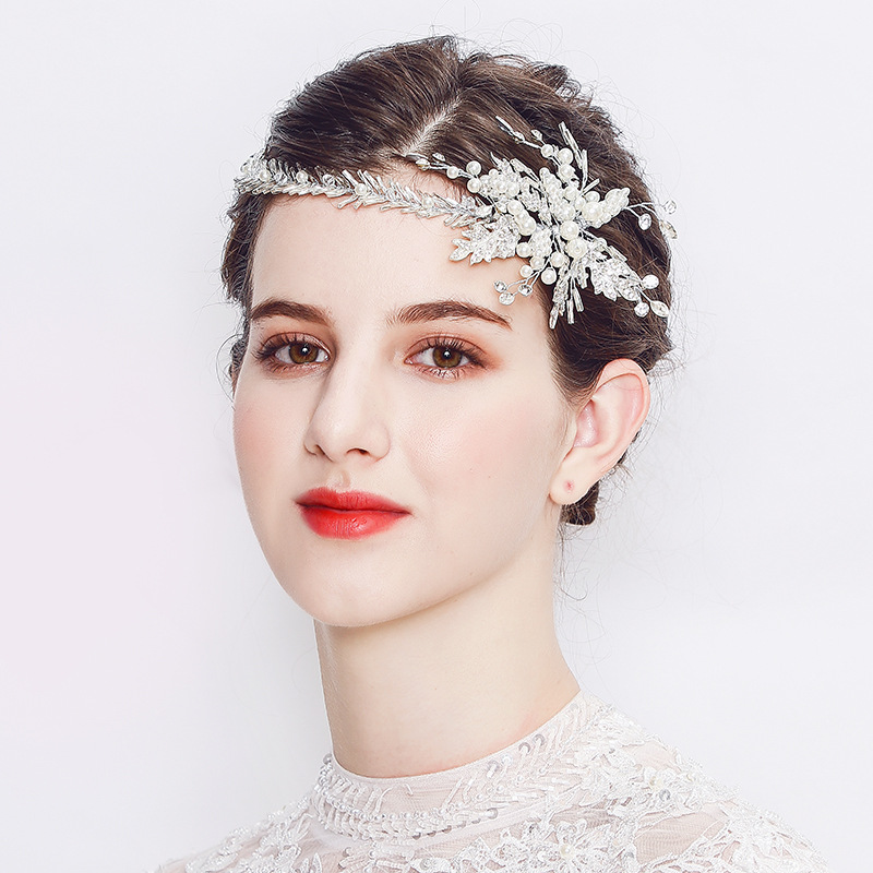 2018 New Crystal Crown Girl Tiara Women Hair Accessories Pearl Jewelry Handmade
