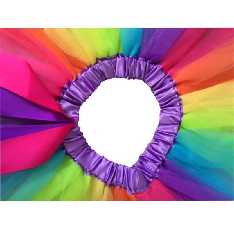 Summer Children Dress Baby Girls Kids Petticoat Rainbow Pettiskirt Bowknot Skirt Tutu Skirts Dance Skirt NDA84L19 (4)