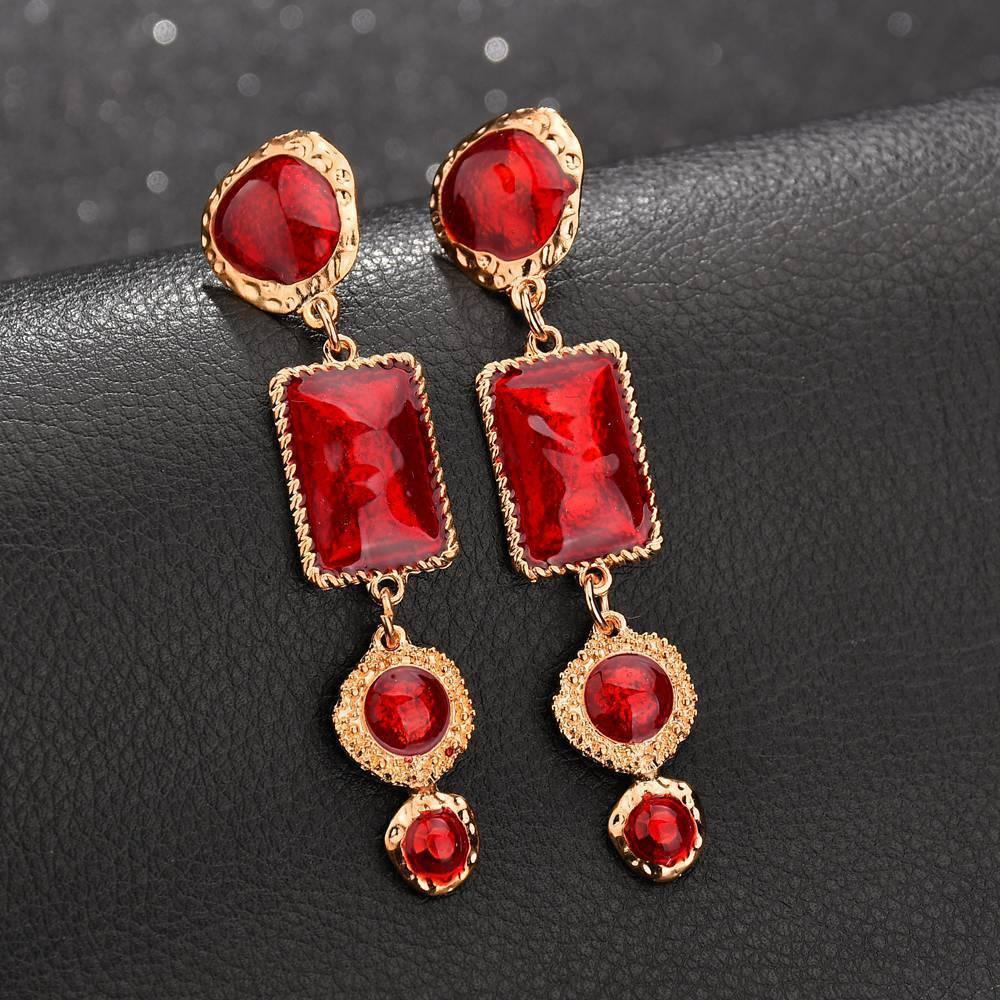 New Arrival Leather Vintage Charm Korean Leather Earrings Costume Jewellery Sets Fine Jewelry Female Bridal Earrings