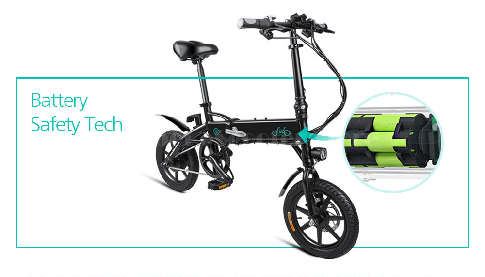 Fiido D1 Foldable Electric Scooter 2 Wheel Electric Bicycle 24V 250W Dual Brake System Portable Mini Folding Electric Bikes (5)