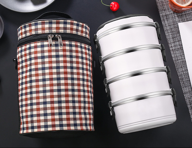 Black White Leakproof Lunch Box 304 Stainless Steel Adult Student Food Storage Container Metal Plastic Thermal Bento Box Japan Style 32