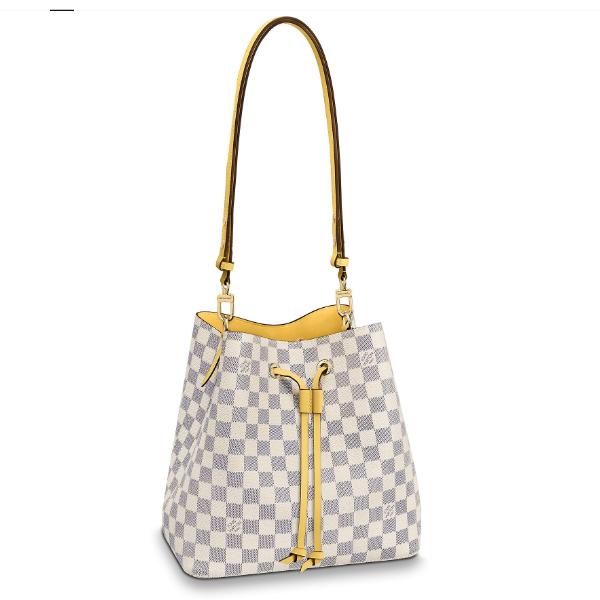 /  NÉONOÉ canvas checkerboard bucket bag shoulder bag N40151, N40152, N40153 three colors optional [scheduled goods 2-3 weeks delivery]
