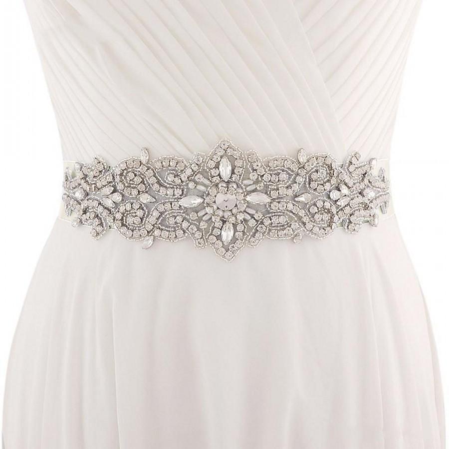 Cinturones nupciales de cristal Cintur/ón de diamantes de imitaci/ón Cintur/ón de dama de honor Vestido de mujer Accesorios Vestido a juego