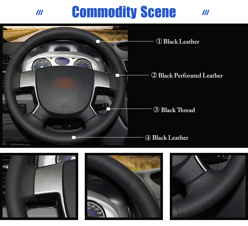for Geely EMGRAND EC718 steering wheel cover