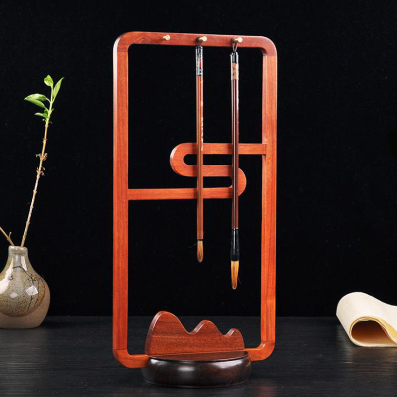 Wooden Calligraphy Brush Pen Rack Holder Stand Nail Art //Make Up Brush Rest