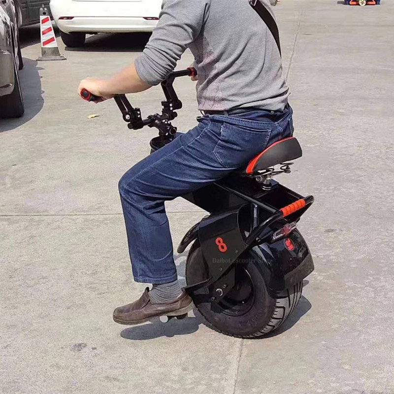 Adult Electric Motorcycle Scooter One Wheel Electric Scooters 18 Inch Fat Tires Portable Electric Unicycle One 1000W 60V 90KM (17)
