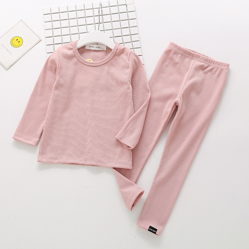 New Ribbed Fitted Pajamas For Baby Girl Pajamas Kids Boy Children Clothes Autumn Winter Toddler Set Soft Comfortable Long Sleeve (6)