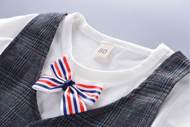good quality baby boys clothing set summer toddler cotton sets newborn baby vest+t-shirt+short pants gentleman suit for boys