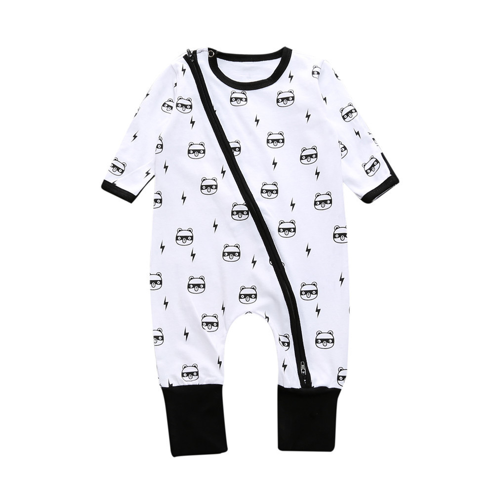 Kids Tales baby home wear pajamas cotton baby boy one-piece romper new born baby girl clothes cartoon long sleeve jumpsuit