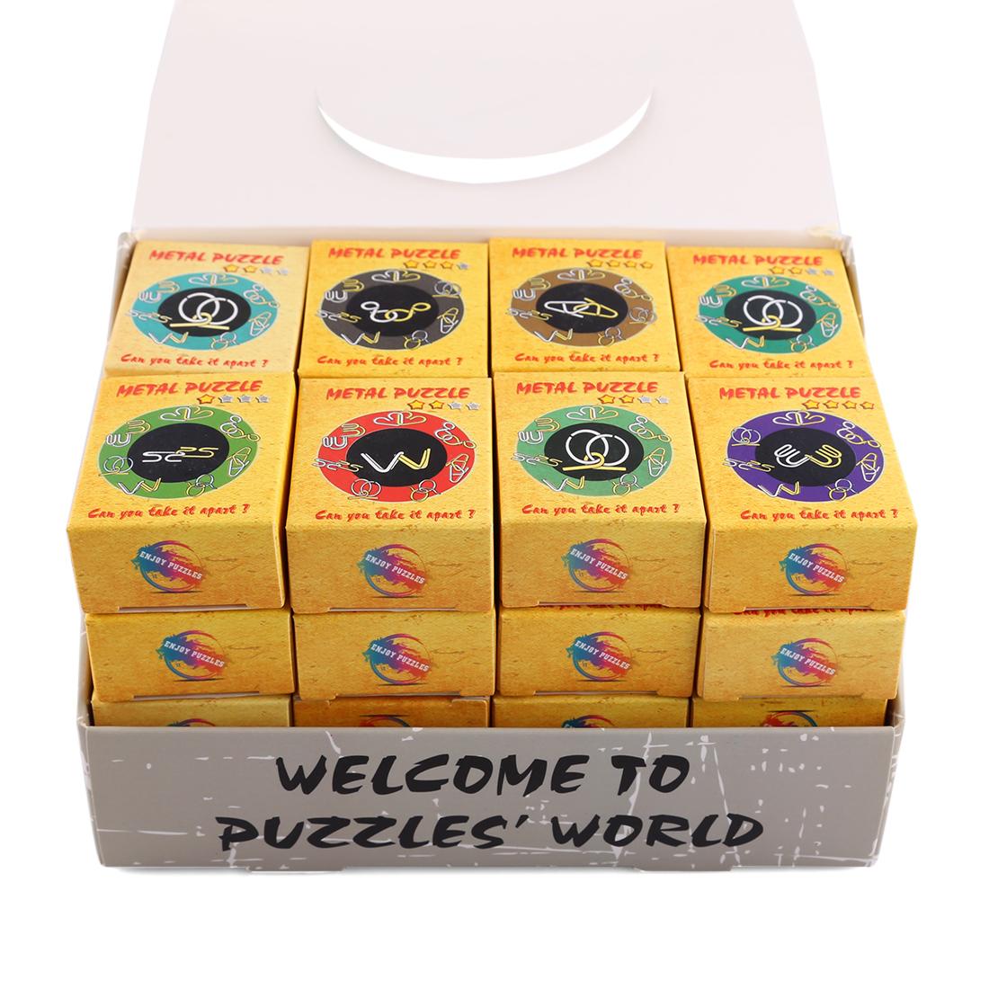 classique puzzle intelligent fil métallique Montessori déroutant cerveau teaser bagues magiques jeux pour adultes enfants enfants cadeaux Y19070503