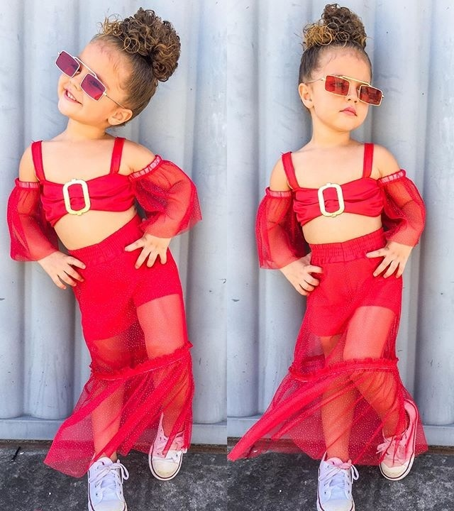 Buoyee 2Pc Toddler Kids Baby Girl Summer Print Princess Dress+Headband Clothes Set