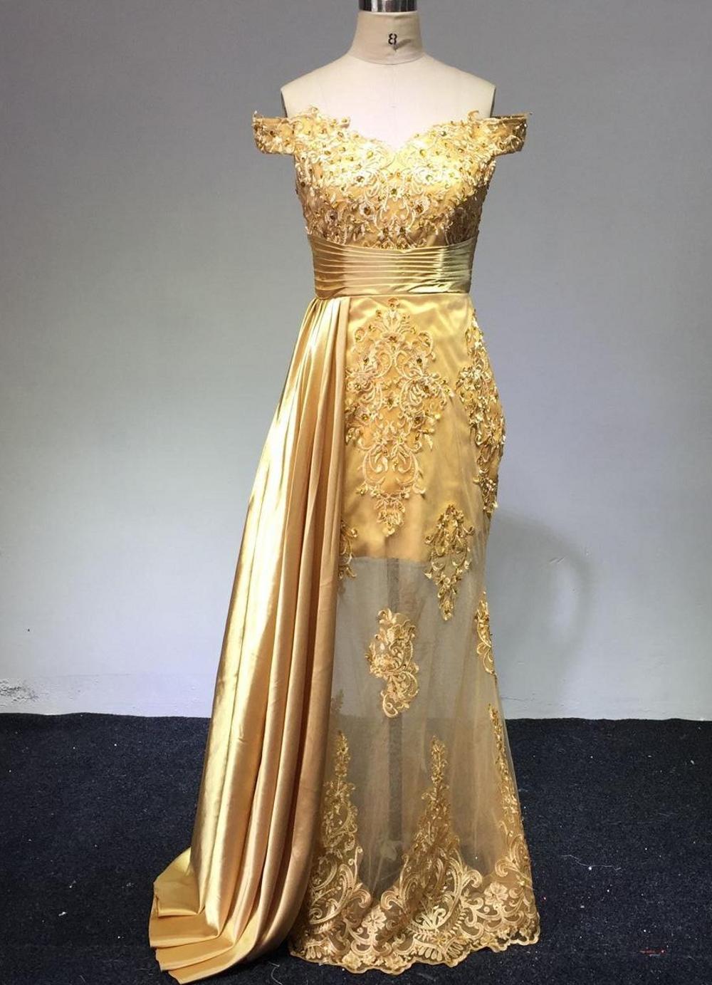 Rabatt Goldene Lange Kleider Arabisch  18 Goldene Lange Kleider