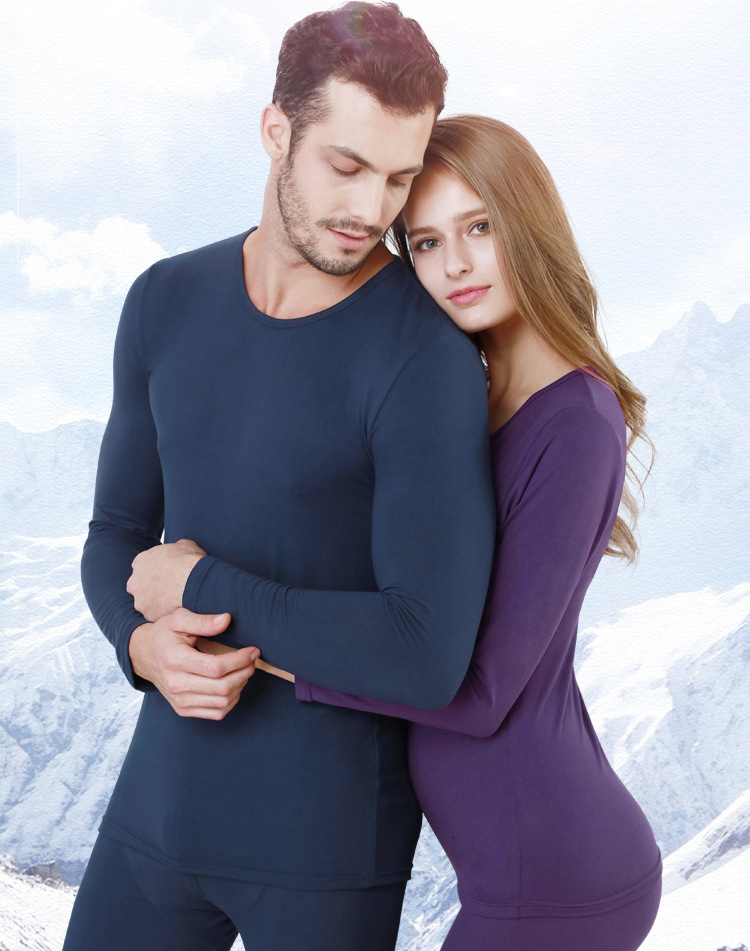 Queenral Long Johns For Male Female Warm Thermal Underwear Thermal Clothing Men Woman Winter Plus Size L - XXXL Thermal Suit 13