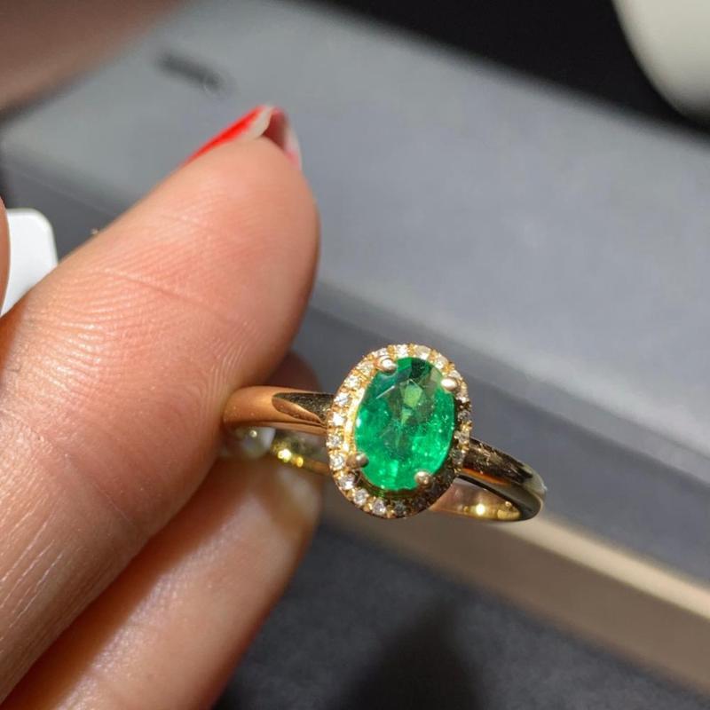 Green Emerald 18K Yellow Gold Gp Tennis Bracelet Jewelry New Xmas Charming
