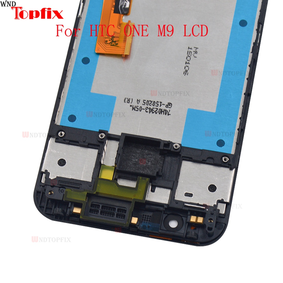 5.0inch 100% Tested For HTC One M9 LCD Display Touch Screen Digitizer Assembly With Frame Replacement Parts For HTC M9 One Hima (8)