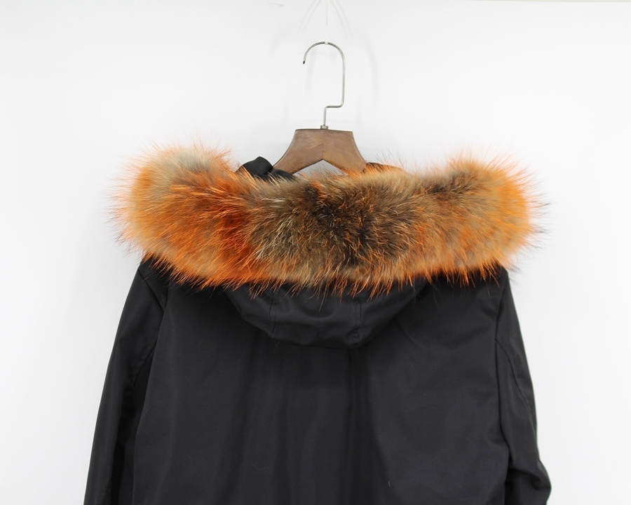 genuine raccoon fur hoody trim collar (5)
