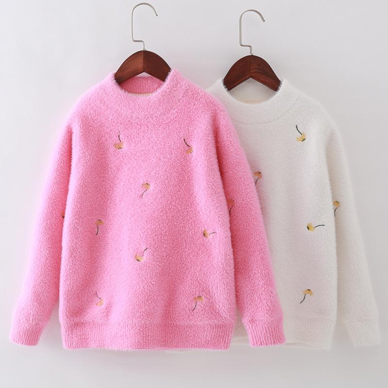 Girls White Pink Floral Cross Top Jumper Sweatshirt 3//4 Sleeve 14-15 Years