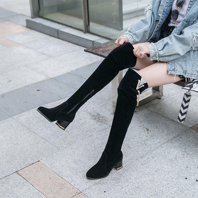 Frauen Socken Stricken über Knie Lange Stiefel Oberschenkel hoch Hohe Qualität