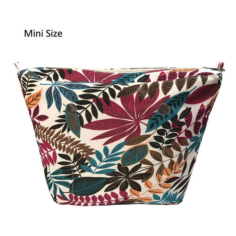 New Canvas Inner lining Zipper Pocket for obag o bag mini classic insert interior silicon handbag bag accessories