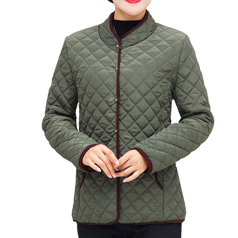 Women Coats 2019 Autumn Winter Cotton-padded Lparkas Chaqueta Mujer Jaqueta Plus Size Xl~5xl Casaco Ladies Short Jacket