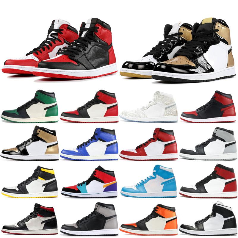 Hommes Chaussures de basket 1 High OG Jordan 1 retro Cheap interdit Obsidian jeu UNC royal Athlétisme Sneaker Top 3 taille d'entraîneur sportif Hommes