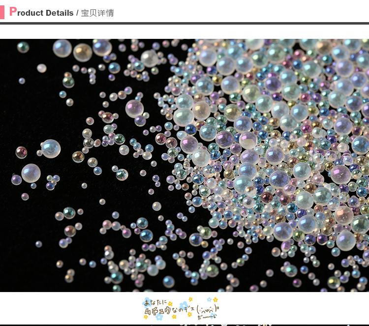 Paquet de 200 grammes de mélange de perles à bulles d'eau AB pour le remplissage de résine UV Kawaii | Perles goutte d'eau assorties | Goutte d'eau 1mm à 3mm