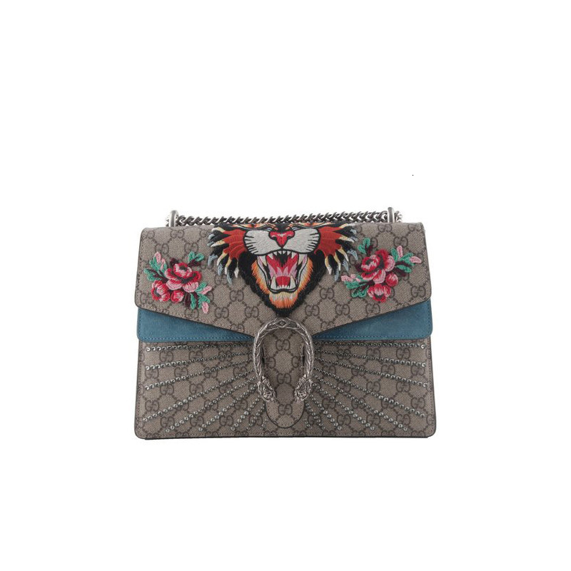 GUCCI Gucci Dionysus Bacchus series color matching leather ladies shoulder bag 4033489C2GN9278-146#190226