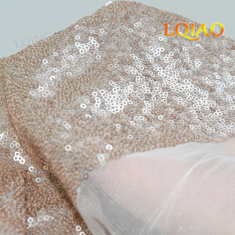 champagne sequin fabric-0113