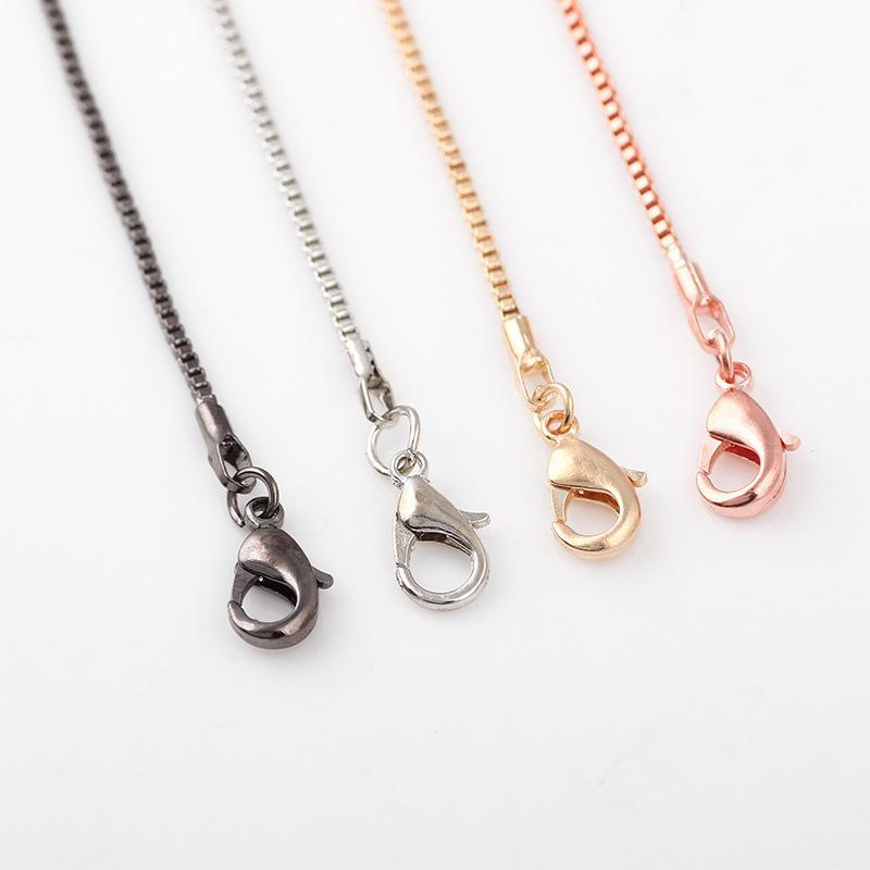 Newest Fashion Snake Box Chain Necklace for Floating Locket Chain with Lobster Clasp Chains Jewelry