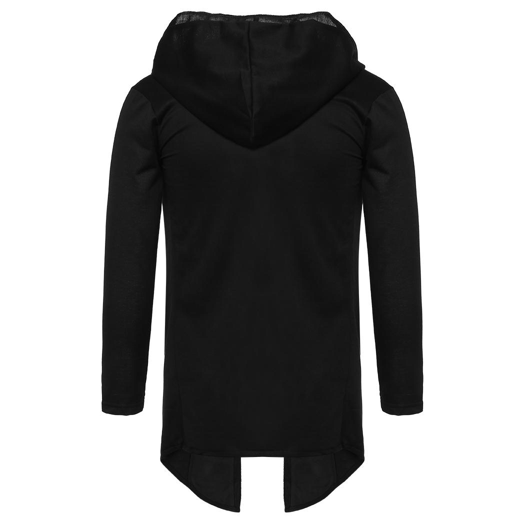 Hombres de moda sudaderas con capucha de gran tamaño sudaderas casual negro manga larga suelta chaqueta de vestido masculino sudadera Cool Hip Hop Coat OutwearMX190902
