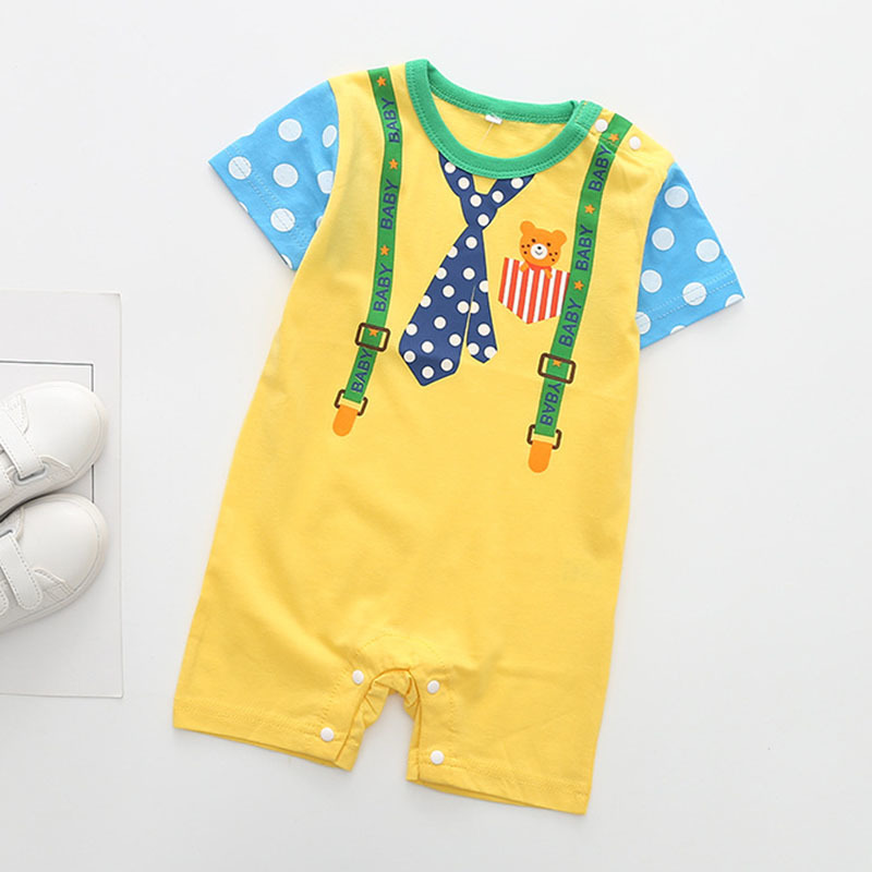 European Style Baby Clothes Pullover Baby Boy Summer Clothes Baby Rompers 2019 Summer Casual Rompers Fashion Girls Boys Clothes