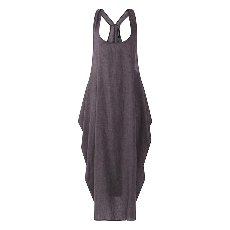 Zanzea Abiti Donna Summer Dress 2019 Vestido Senza maniche Solid Casual Maxi Vestidos Abiti lunghi Robe Femme Sundress Plus Size J190601