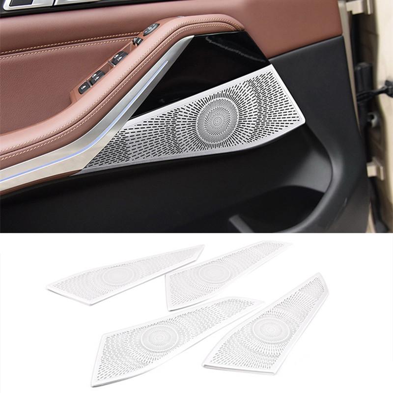 Carbon Style Auto T/ür Stereo-Lautsprecher Cover
