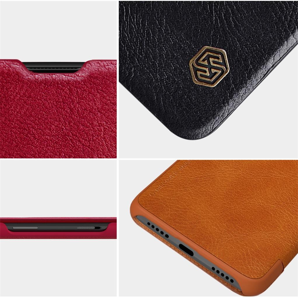 Toptan 6 T Durumda Bir artı 6 t kapak orijinal Nillkin QIN deri Kılıf Kart Cep cüzdan çanta oneplus 6 t için ağır flip kapak