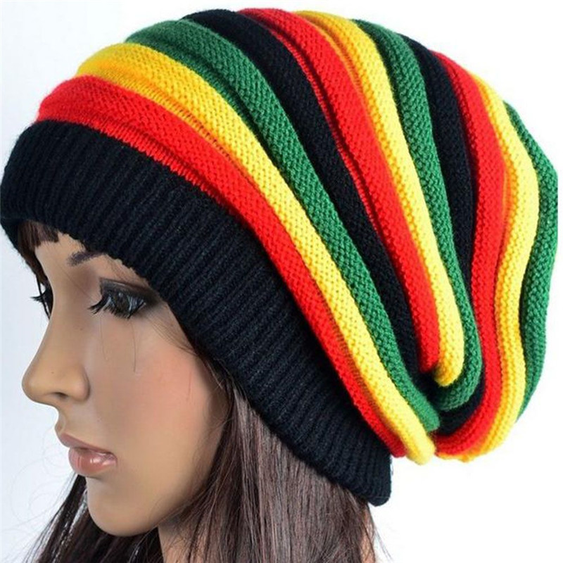 Bob Marley Jamaican Reggae Headgear Baggy Cap Rasta Beanie Hat Wig Dreadlocks 1P