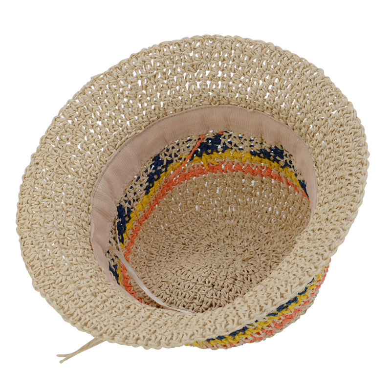wholesale Sun Hat Ladies Summer Hats For Women Colorful Straw Hat Bucket Hat Beach Panama Cap Vacation Holiday Travel Bohemia Style