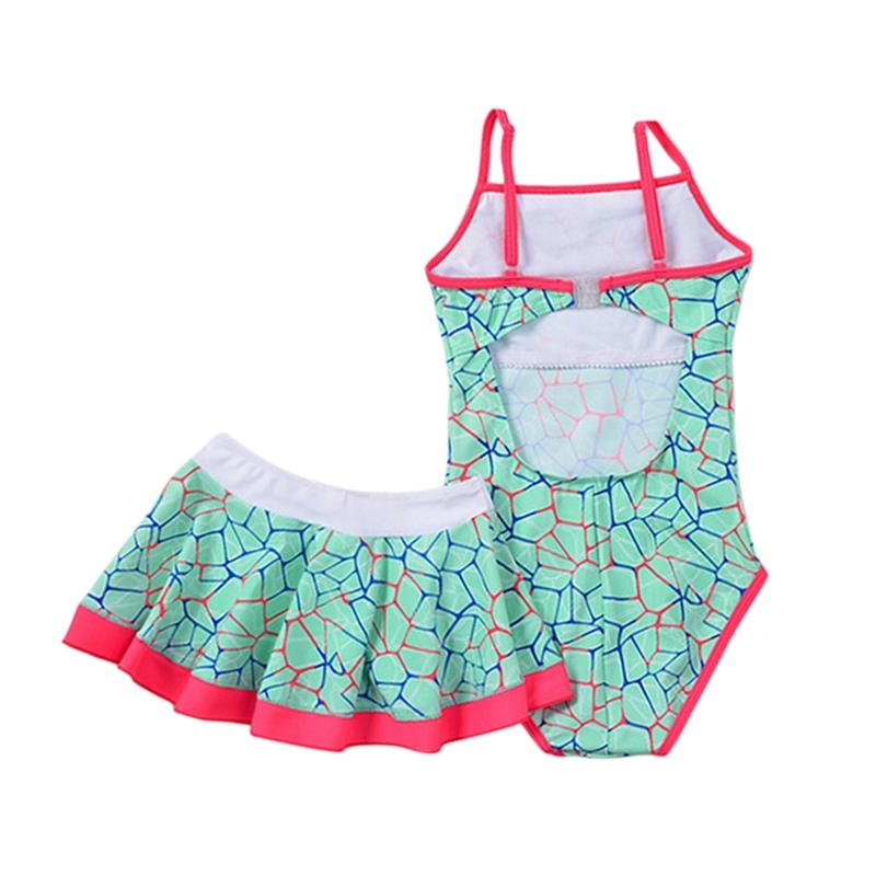 Girl Beach Swimwear Summer 2018 Kids Baby Swimsuit Swimming Clothes Soft Triangular Sleeveless Bathing Suit For 1-15t Child J190519
