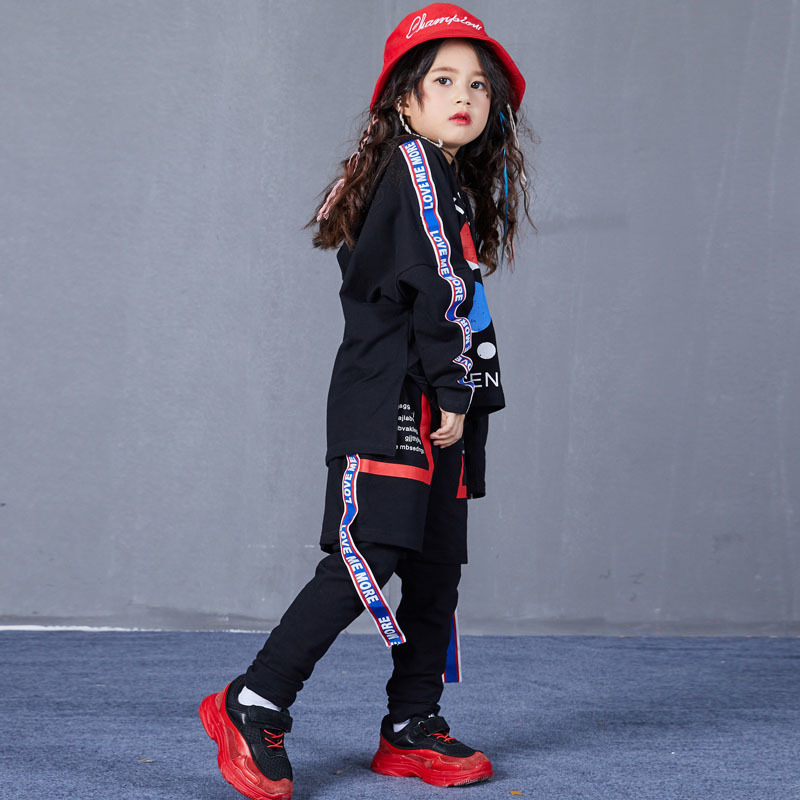 Autumn Hip Hop Jazz Dance Costumes for Kids Street Dance Clothes Sets Boys Girls High Fashion Street Wear Size 6 8 10 12 14 17 T (7)