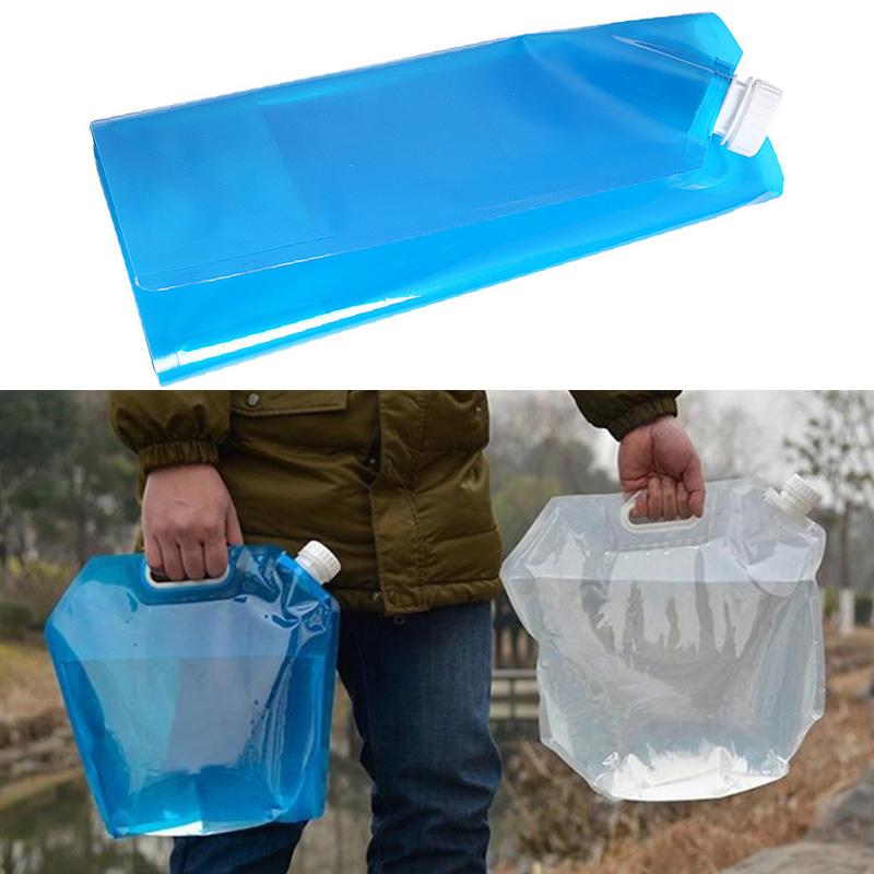 15 l litre pliable eau transporteur titulaire stockage sac boîte poignée avec Robinet Camping