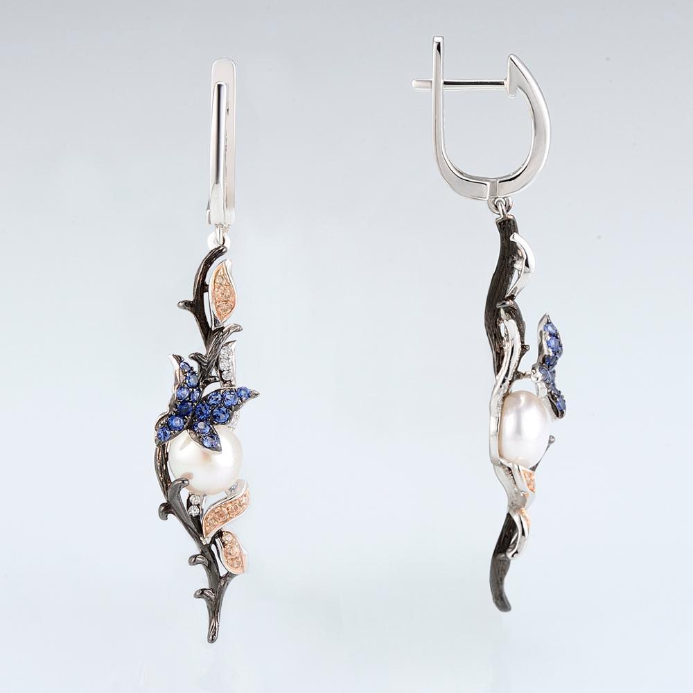 E307634MULSV925-SV4-Silver Earrings