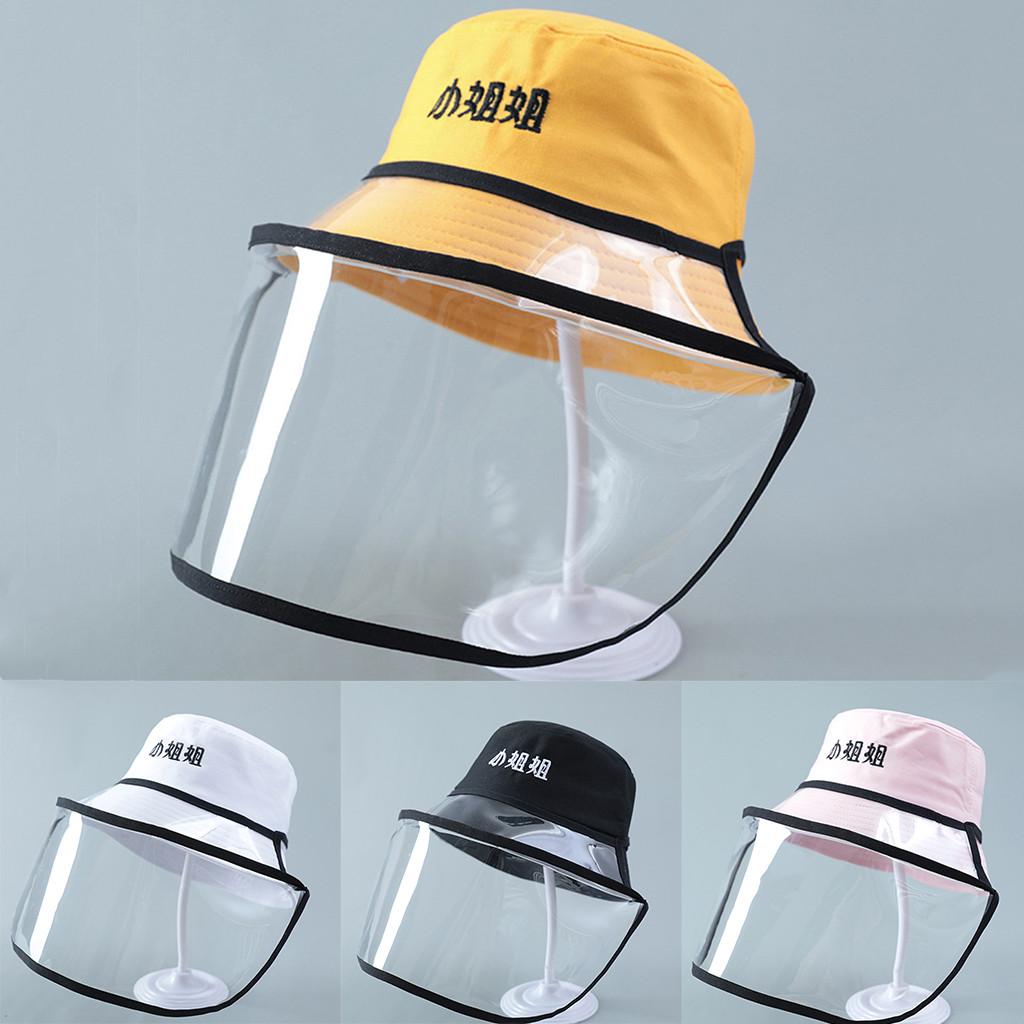 Berretto Protettivo Rimovibile Unisex Berretto da Baseball Lettera Casual Cappello Antipolvere Anti-Saliva Cappello con Visiera Trasparente