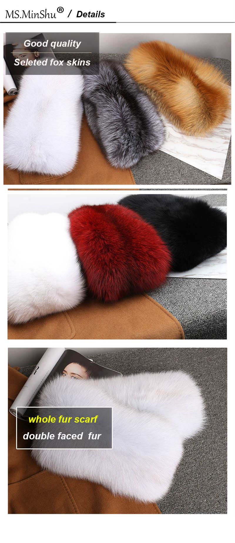 fox fur scarf color details