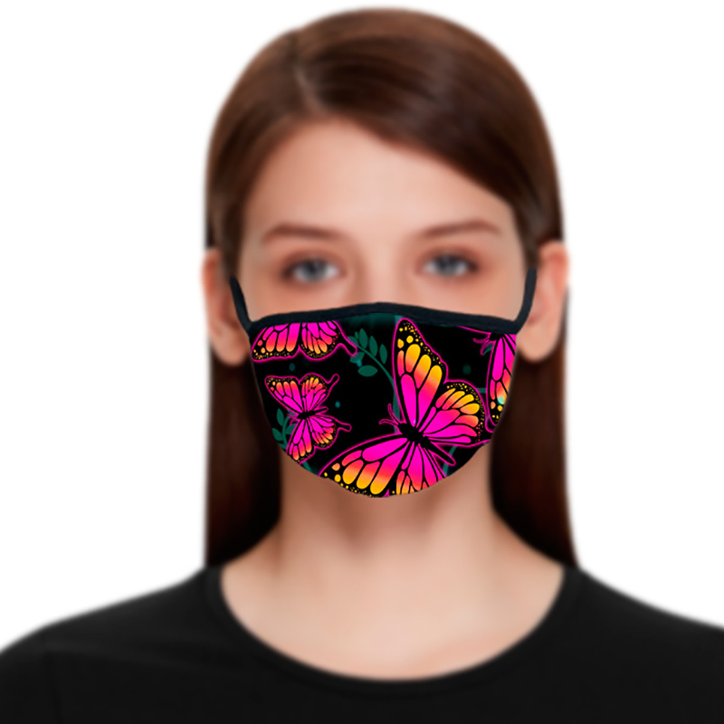 Butterfly pattern 3D printing Designer face mask with cotton reusable face masks Out Door Sport Riding Masks Fashion Designer Mask