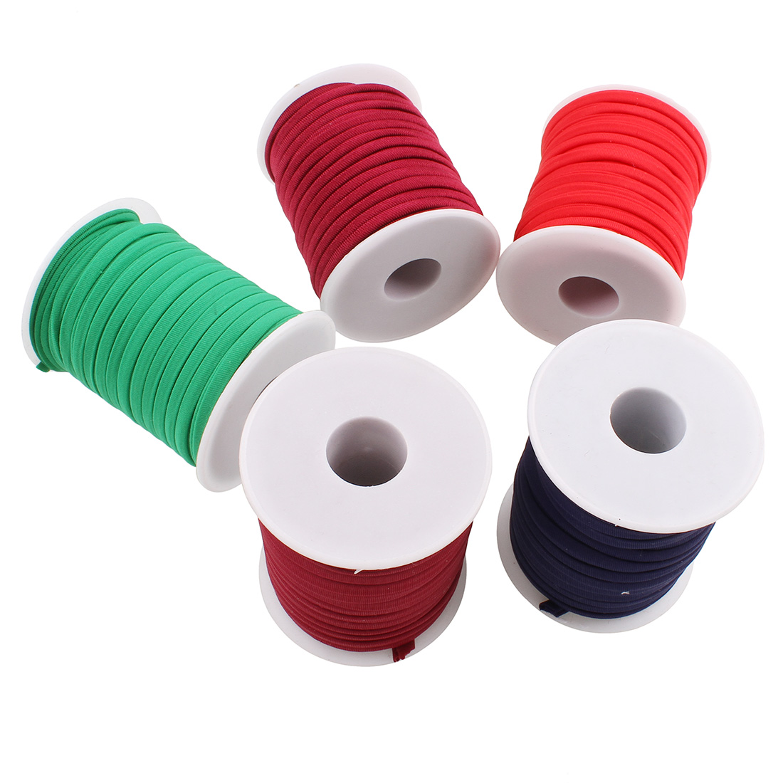20yards Spool Rope Thread String 6x2mm Wide Flat Elastic Jewelry Making Polyester Cord Rubber Bands Knitted Hanger Loop